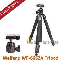 Weifeng WF-6662A SLR Tripod Weifeng 6662A professional Tripod Digital Camera Aluminum Tripod wirh Carry Bag Free Shipping