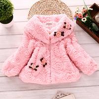 Girls Artificial Fur Coat Autumn/Winter Clothes Children Kids Toddler Children's Sweet Warm Outerwear Jacket WJ0009 2015 A251-90
