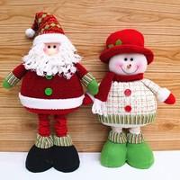 Adjustable Legs 70cm Enfeites De Natal Tall New 2014 Christmas Decoration Supplies Red Green Santa Claus Snowman Decor Cute Gift