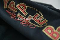 Free shipping  crystal apple autumn/spring sport sweater good quality  Black sweatshirt  sports suit sportswear