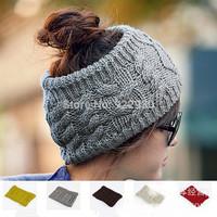 High Quality Fashion Womens Mens Knit Crochet Wide Headband Headwrap Hairband Beanie Hats Caps Free Shipping