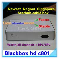 Newest singapore starhub cable box 2014 ,Blackbox c801 black box c801 HD support Nagra3,BPL,HD channels and HK drama movie