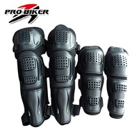 Hot Sell 4 Piece/ Set PRO-BIKER Motorcycle Kneepad Motocross Bike ATV Elbow & Knee Protective Knee Brace pads Protector Guard