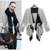 2014 New Women Long Sleeve Knitted Cardigan Lapel Sweater Jacket Coat Top Jacket