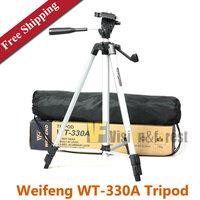 Free Shipping WT-330A Lightweight Universal Camera Tripod DV / SLR Weifeng Tripod with Carrying Bag Portable Travel Tripod