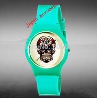 Willis for Mini Skull Pattern Design Fashion women dress Water Resistant Analog Wrist quartz Watch digital watch free shipping