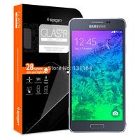 Original Spigen Galaxy Alpha GLAS.tR SLIM Screen Protector, Premium Slim Tempered Glass Film for Samsung Galaxy Alpha
