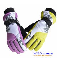 Special German premium brand of female models Hok ski gloves waterproof windproof cuff gloves warm gloves