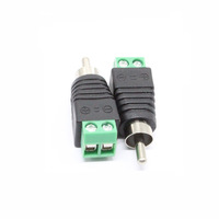 (100pcs) CCTV Male RCA Adapter