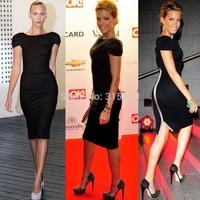 New Plus Size Winter Bodycon Zipper Black Dresses Vestidos De Menina Fashion Women Celebrity Style Ball Party Evening Gowns