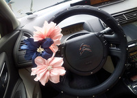 Fashion cover rhinestone flower steering wheel cover four seasons general auto supplies female
