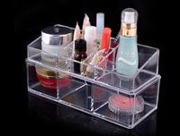 Desktop Cosmetics Shelves Display Rack Double Crystal Powder box