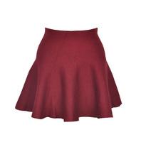 Autumn Winter High Waist Knit Ruffle Ball Gown Mini Skirt, 8 Colors!!