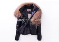New Women Winter Coats 2014 Women's Down Jacket Causal Thick Big Fur Collar Short Down Parka Coat Winter Jacket Women Down Coat