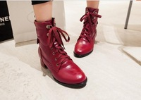 50 49 48 47 46 45 44 43 Customize Women Pointed Toe Autumn Winter Boots Girls Extra Large Big Size Low Heel Thick Heel Plush 3 4