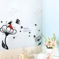Wall stickers living room TV sofa backdrop bedroom wall sticker wallpaper flower fairies XY8042
