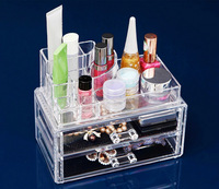 Desktop Cosmetics Shelves Two layers Drawer Combination