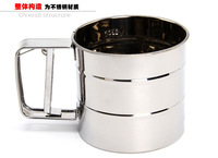 Free shipping Stainless steel sieve the flour Durable and environmental protection Kitchen supplies folding