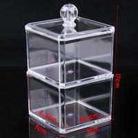 Desktop Cosmetics Shelves Double transparent swab box