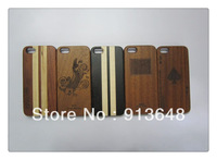 For iPhone 5/5s Button Case Wooden Cover Combined 2 Pieces Mobile Accessory For iPhone 5 5s Different Color Shipping by DHL
