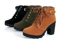 Free Shipping Hot Sale brand platform high heel single shoes vintage Women Motorcycle Boots Martin Boots,size 35-39