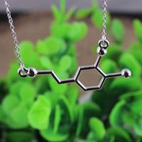 Hot sale Pendant Necklace Happy hormone, Serotonin Molecules chemical formula of love necklace Happiness Signal, 5-ht Pendant