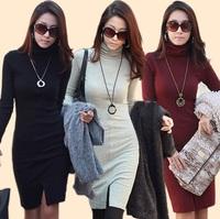 XXXXL Plus Size Winter Casual Dress,Handmade Crochet Sweater Dress,Vestido Informal,Long Sleeve Retro Dress Large Size Pullovers
