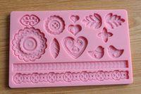 20*12.7cm 3D silicone fondant mould Fondant Decorating Tool Sugar craft