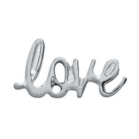 20pcs/lot Free Shipping Diy Fashion Alloy Silver SCRIPTED LOVE Floating Charm For Origami Owl Memory Living Locket