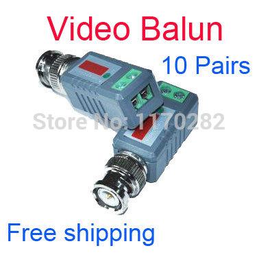 wholesale 10pair/lot Anti-interference CCTV Camera Video Balun Transceiver BNC UTP RJ45 Video Balun CAT5 Cable Freeshipping(China (Mainland))
