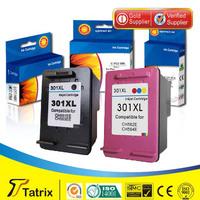 Free shpping Black Reman ink cartridge CH563EE for HP 301XL black ink cartridge use in  DeskJet 1050/DeskJet 2050/ DeskJet 2050s