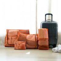 New nylon mesh man woman travel storage bag wash pouch (4 pcs/set)