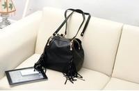 Hot! Women's vintage top Pu leather shoulder bag Fashion Tassel lady's winter bag messenger bag desigual handbag