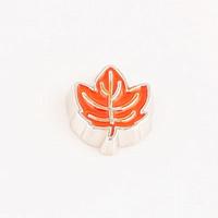 20pcs/lot Free Shipping Fashion Alloy Diy Enamel Orange Maple Leaf Floating Charm For Origami Owl Memory Living Locket