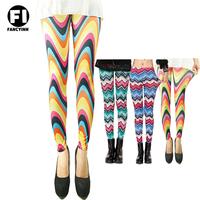 Fancyinn Desgin 2014 Women's Stripe Cross Leggings Sexy imitation Slim Points Pants Women's Leggings