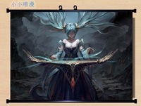 ~ HOME Decor Game Anime Poster Wall Scroll league of legends LOL ~ Sona 269936