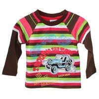 Hot Sell Ajiduo Fashion Boys T Shirt Long Sleeve Stripe Car Printed Kids Clothes Autumn Cotton Children Tops Wholesale