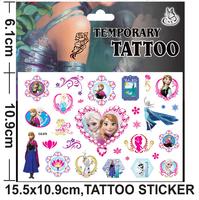 Frozen tattoo Factory hot sale/CG - 070 ice colors/children's cartoon paste/fashion green sticker/label popular in USA