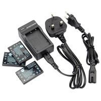 DSTE 3PCS NP-60 Li-ion Battery and EU&UK Charger for Fujifilm FinePix 50i, FinePix 601, FinePix F401, FinePix F401 Zoom