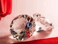 Free Shipping Crystal Diamond paperweight, business gift, company souvenir, crystal crafts,wedding souvenir crystal