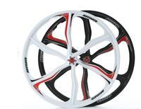 26-inch Mountain Bike Overall Wheel Mountain Bike Disc Brakes Peilin Magnesium Alloy Wheel Set Bearing Wheels 5 Cutter Wheel