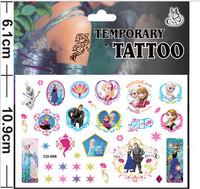 Frozen tattoo Factory hot sale/CG - 068 ice colors/children's cartoon paste/fashion green sticker/label popular in USA