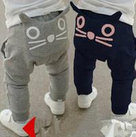 Free shipping!2014 Kids Boys Girl autumn winter lovely cat long trousers children pants baby long pants baby long trousers K086