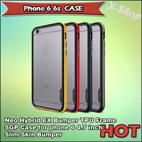 X-SHOP,SGP SPIGEN Neo Hybrid EX Bumper TPU Frame SGP Case for phone 6 4.7 inch Slim Skin Bumper for phone 6 phone Bumper