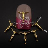MNS702 Jesus nail art studs 3d alloy nail charms for nails decorations new arrive 50pcs