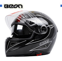 Free shipping Netherlands BEON double lens carbon fiber racing helmet motorcycle helmet full helmet ran glare reduction