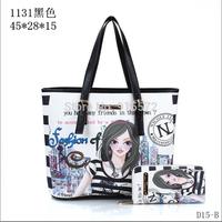 2014 Hot Celebrity Girl Faux Leather Handbag Tote Shoulder Bags Woman HandBag fashion designer shoulder bag Exquisite applique