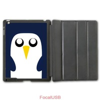 Adventure Time Penguin Lovely Cute Pattern Protective Smart Cover Leather Case For iPad 2 3 4/iPad 5 Air/iPad Mini  P96