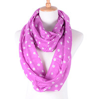 free shipping new arrival japan hotsale Irregular dot print long circle loose 100% cotton modal bib Polka Dot ring tube Scarf