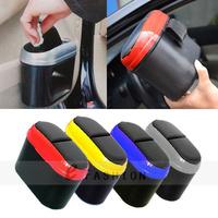 Free Shipping! Mini Car Dustbin Trash Multi-color Hook Garbage Dust Box Case Holder Convenient Rubbish Can 400-0006